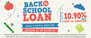 Back To School Loan Promotion Featuring Rates As Low As 10.90% APR