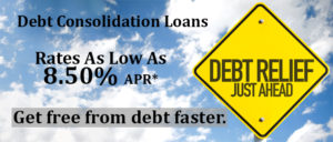 Debt Consolidation Loan Promotion Featuring Rates as low as 8.50% APR