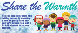 illustration - share the warmth coat donation drive